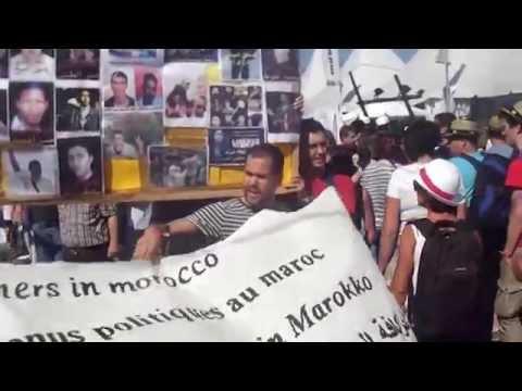 فرنسا :مسيرة احتجاجية للمطالبة بالحرية لكافة المعتقلين السياسيين بالسجون المغربية