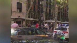 Van plows into crowd in Barcelona