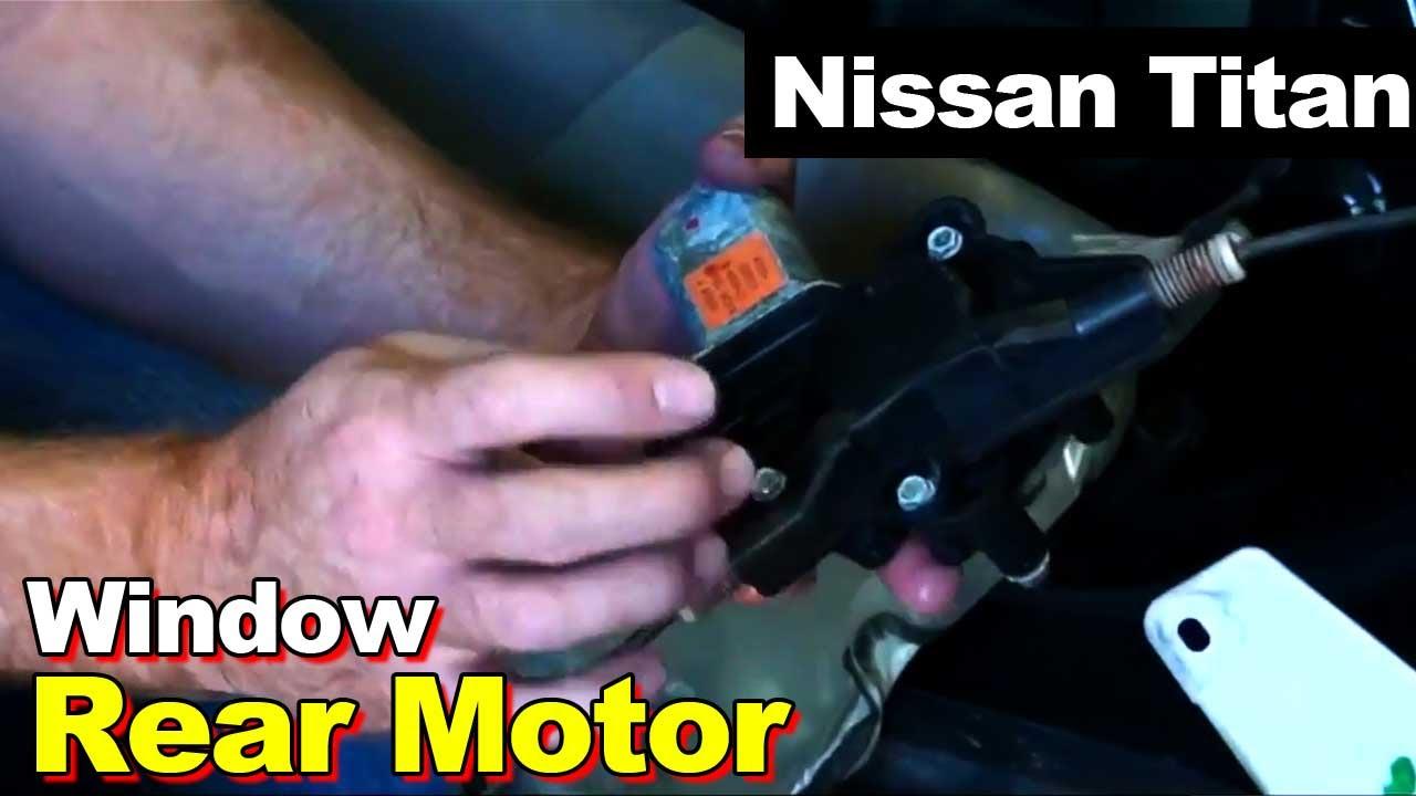 2004 nissan titan rear window motor replacement youtube for Nissan versa window motor replacement