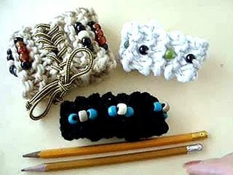 KNITTING WITH PENCILS, make a bracelet or headband.