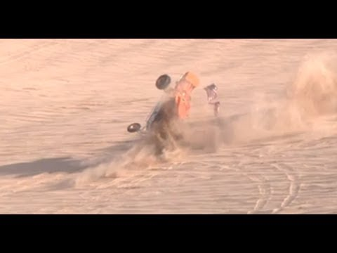 Sandrail crash and rollover Oldsmobile Hill in Glamis California