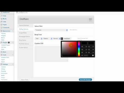 Graffiare Wp Theme Option Panel Overview