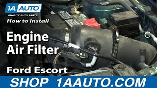 How To Install Replace Engine Air Filter Ford Escort ZX2