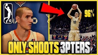 This Hooper ONLY Takes THREE POINTERS And ALMOST Made The NBA!   Best SHOOTER You've NEVER Heard Of!