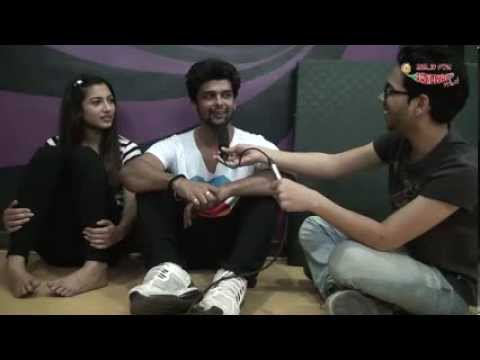 Gauhar Khan and Kushal Tandon at the rehearsals of Mirchi Top 20!
