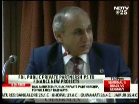 NDTV 24X7 Programme: Mr. Arunendra Kumar, Chairman Railways Board on FDI for bullet Trains.