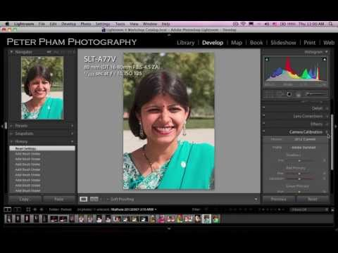 Học Lightroom 4 - 044 Xử lý ảnh chân dung 1
