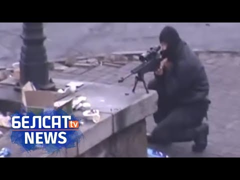 Snipers in the streets of Kyiv. 20.02.14 / Cнайперы на вуліцах Кіева (APTN)