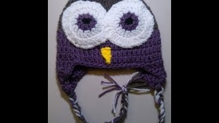 Crochet Owl Beanie Part 1
