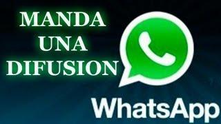 Manda mensajes masivos con Whatsapp
