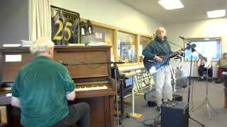 Marty Flashman w/ Bob Ebenstein at Mad River Adult               Day Care, Arcata, Ca July 27, 2012