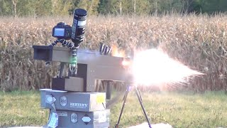 Backyard RAILGUN: Field Testing the 250 lb Electric Gun, 27,000 Joule (max)