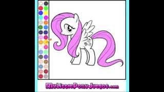Juego Colorear Fluttershy My Little Pony