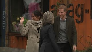 Prince Harry, Meghan Markle visit south London radio station | ABC News