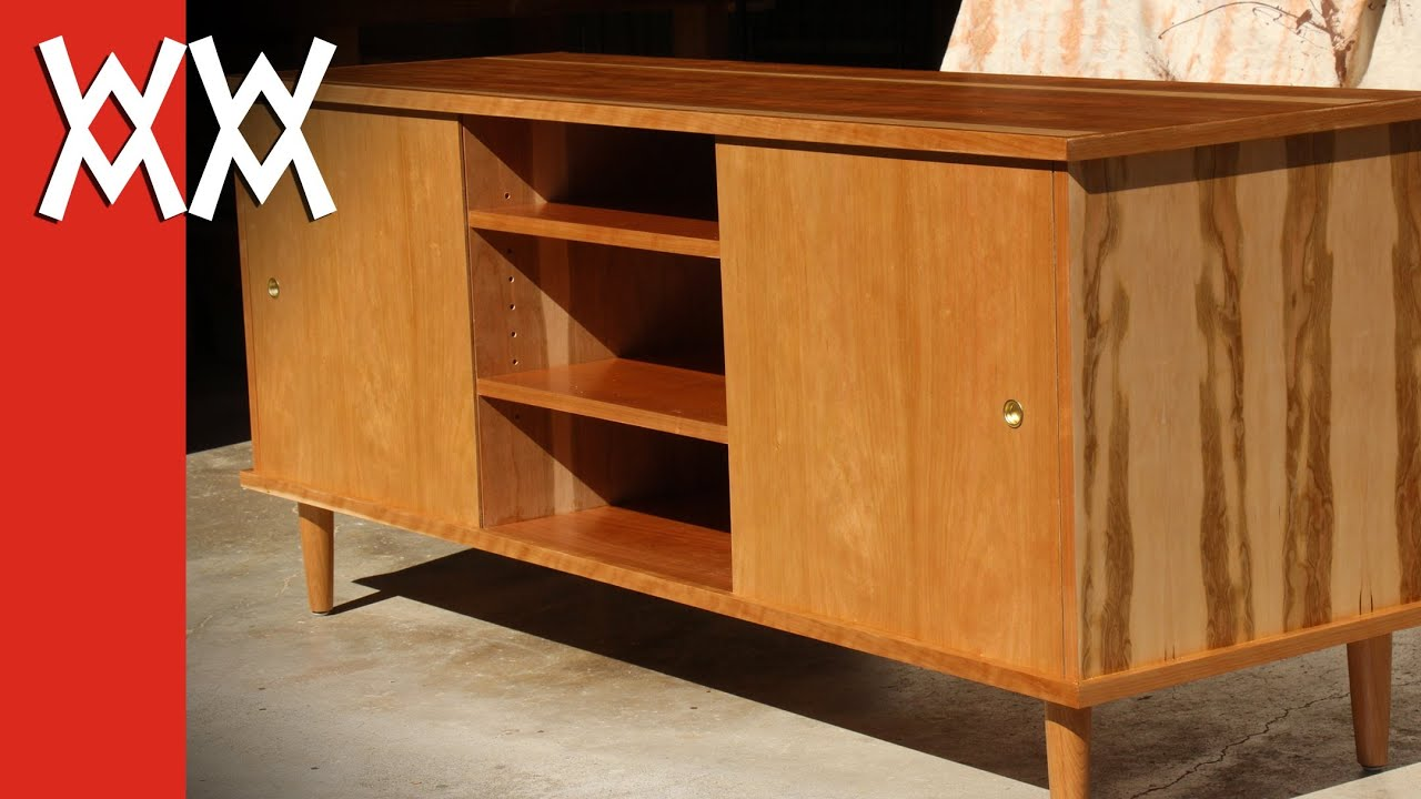 Build a '50s style credenza / TV cabinet - YouTube