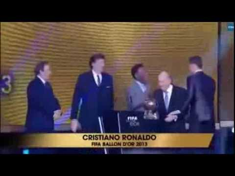 Cristiano Ronaldo Recibe El Balon De Oro 2013 Reaccion De Messi Y Ribery