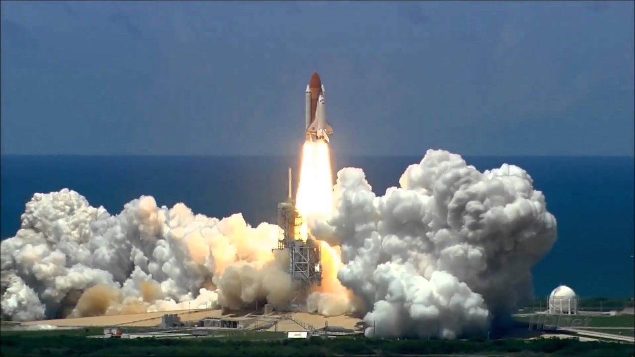 space shuttle launch - YouTube