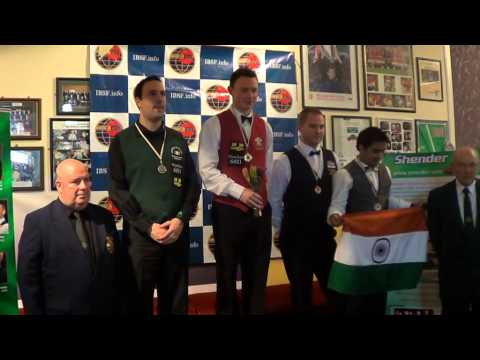 Medal Ceremony of 2013 IBSF World 6Reds Championship (MEN)