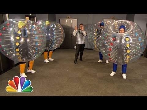 Bubble Soccer with Colin Farrell, Chris Pratt and Frank Knuckles