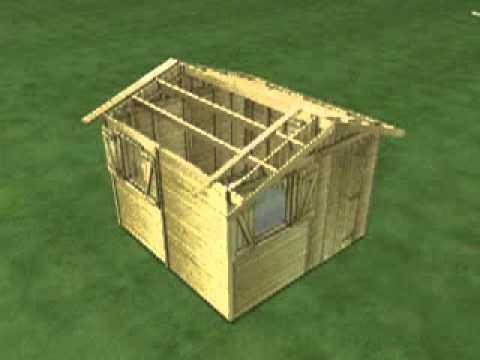 Abri de jardin en bois construction et mode d 39 emploi for Abri jardin bois 20m2