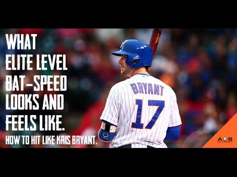 What Elite Level Bat-Speed Looks & Feels Like.: How To Hit A Baseball Like Kris Bryant.