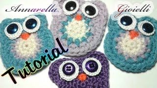 Tutorial Gufo All'Uncinetto Crochet Owl Tutorial