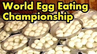 120 Eggs Eaten in 8 Mins.. (World Egg Eating Championship)