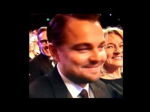 Leonardo Dicaprio blowing a kiss to the audience at The 2014 BAFTAS