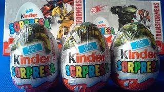 3 HUEVOS SORPRESA DE TRANSFORMERS. SURPRISE EGGS