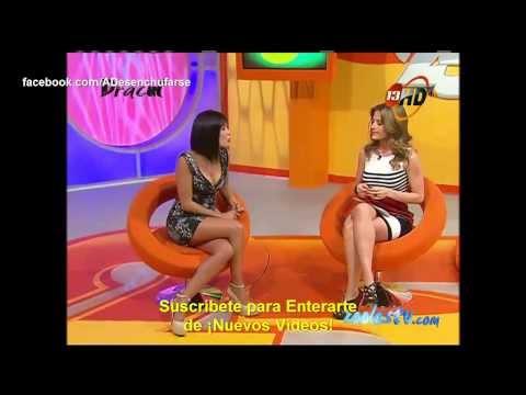 Enormes pechos de Andrea Escalona y María Inés presumiendo cuerpazo en minifaldas
