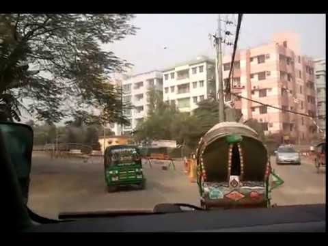 Driving Gulshan 1 Dhaka Bangladesh - The Rich End of Town