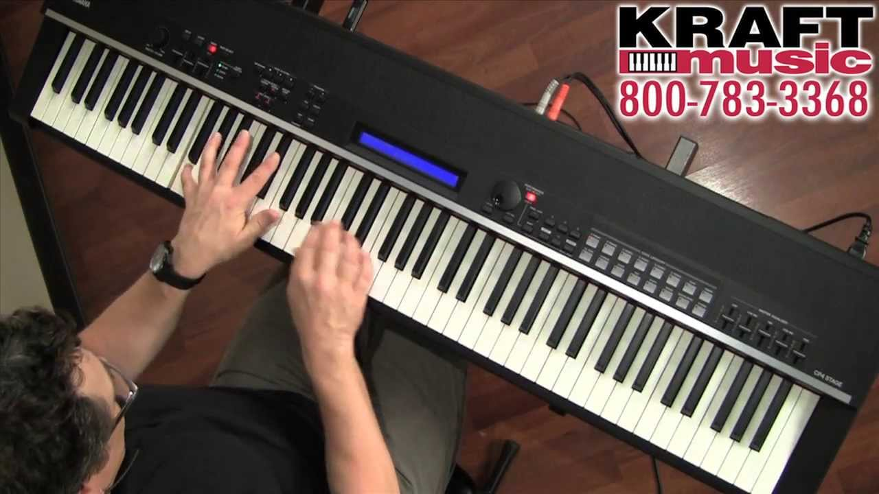 kraft music yamaha cp4 stage digital piano demo with. Black Bedroom Furniture Sets. Home Design Ideas