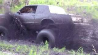 Bogging In A Bad Ass 4x4 Truck In The Mud.