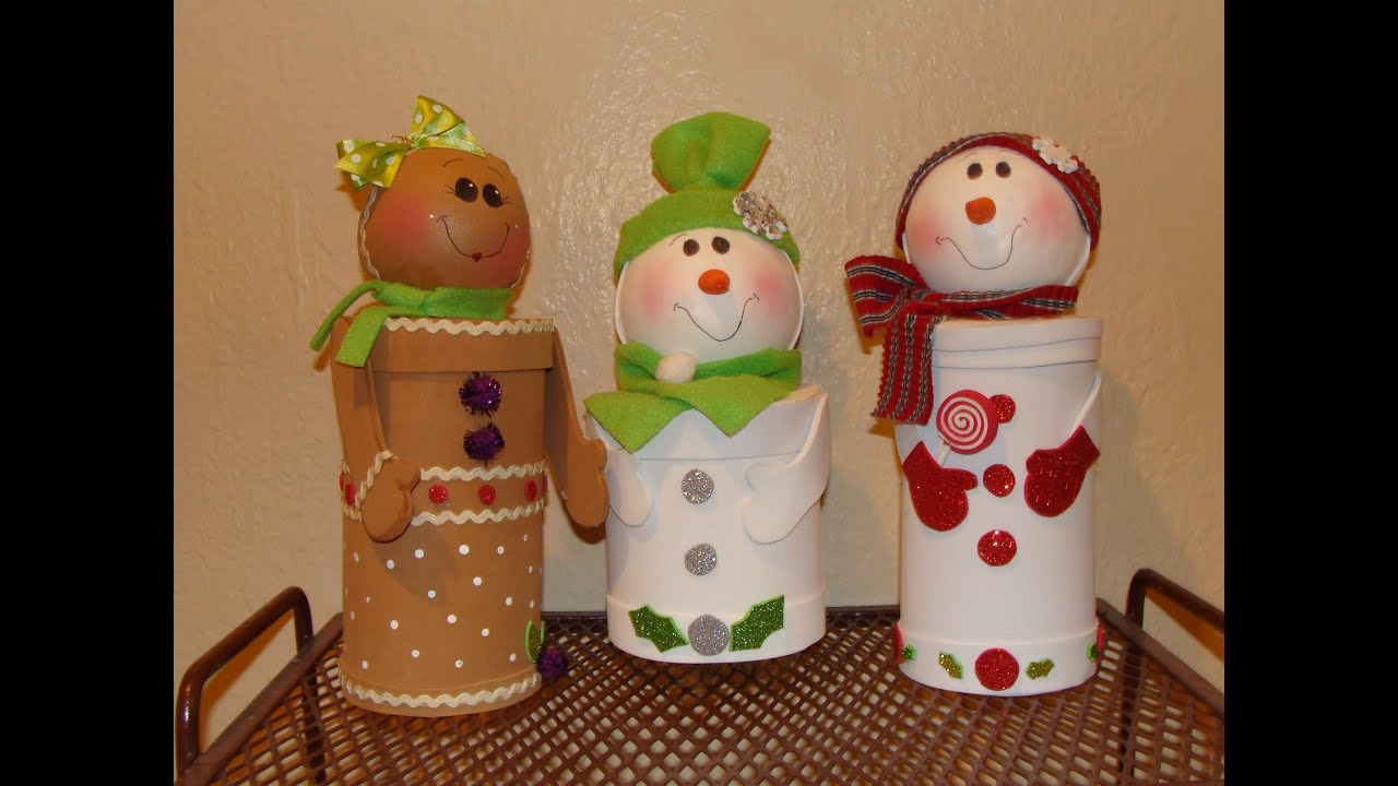 Diy dulceros navide os con material reciclado christmas candy holders youtube - Cosas de navidad para hacer en casa ...
