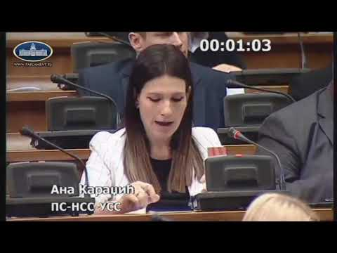 Ана Караџић о образовању  Комисије за истрагу и утврђење броја жртава агресије НАТО пакта 1999г