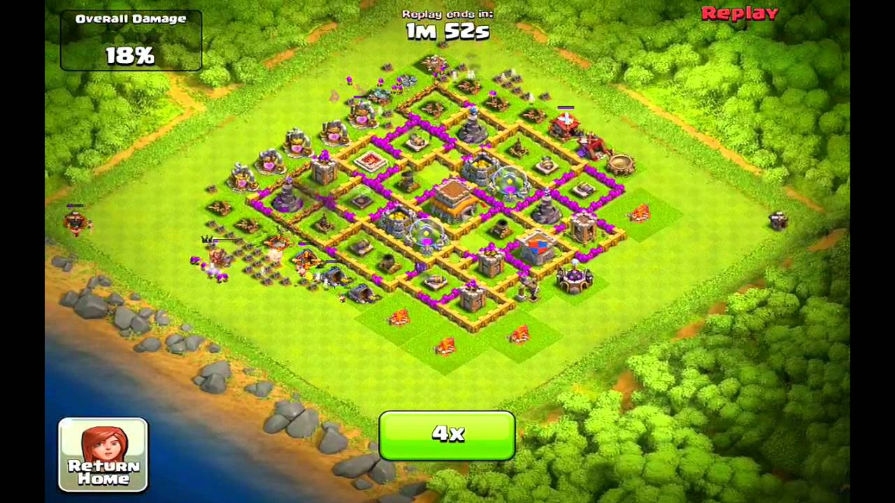 Clash of Clans Layout Town Hall Level 8