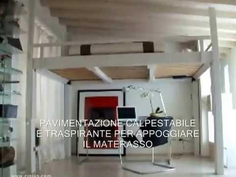 Letto a scomparsa letto a soppalco in legno youtube for Il loft arredamenti