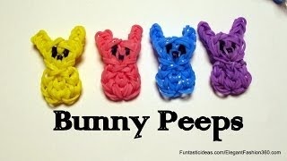 Easter Bunny Peeps Candy Charm How To Rainbow Loom