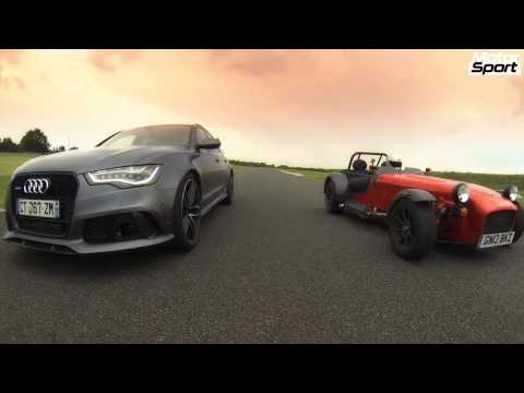 Drag Race : Audi RS6 Avant VS Caterham 485 R (Motorsport)