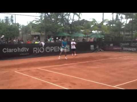 Treino Rafael Nadal e João Sousa - Rio Open