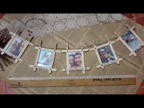 Video 17:  Hướng dẫn làm khung ảnh treo tường kiểu Hàn Quốc từ que kem