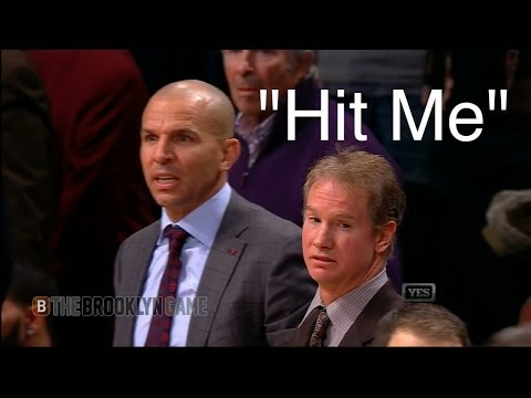 "Jason Kidd says ""Hit Me"" & Spills Drink on Court"