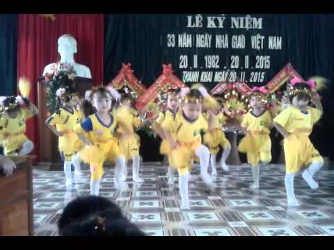nhảy erobic trời nắng trời mưa lớp mẫu giáo nhỡ mầm nonThanh Khai