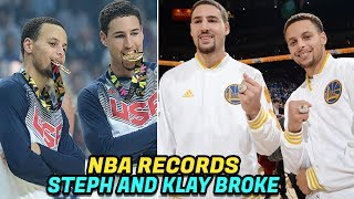 NBA RECORDS Steph Curry and Klay Thompson Have Broken! The Splash Brothers!