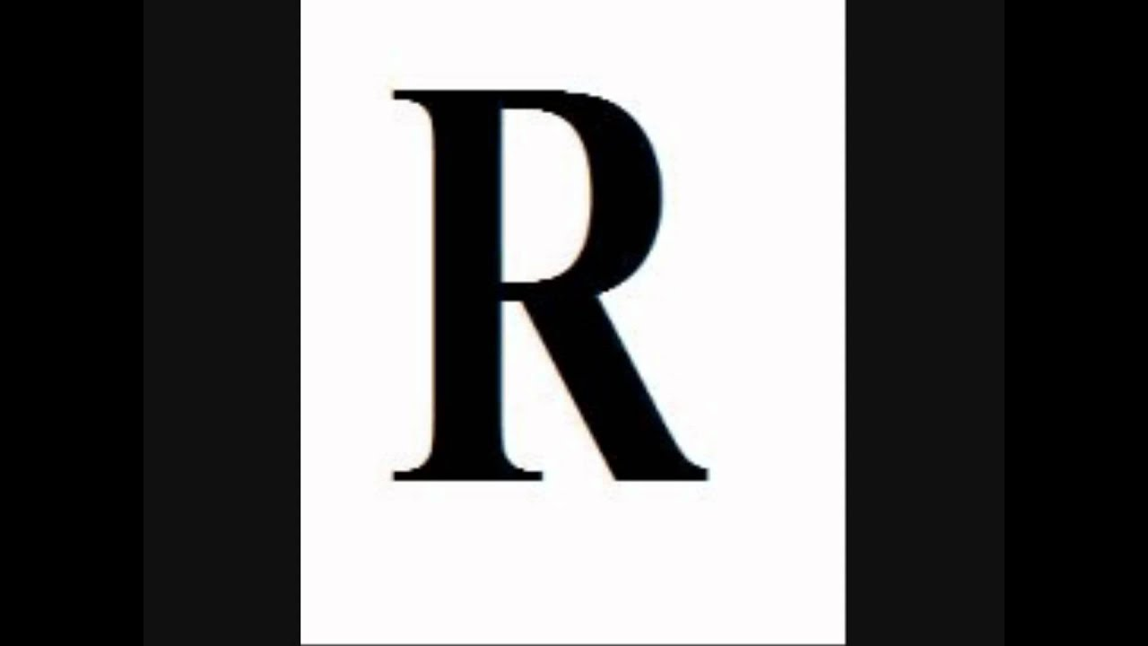 fancy fancy letter r coloring pages
