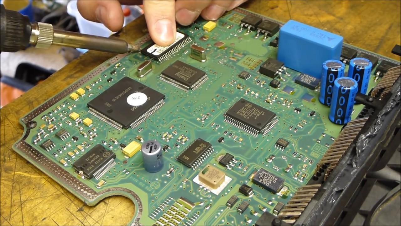How To De Solder And Repair Broken Bosch Edc15c2 Ecu From