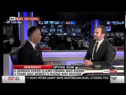 Spying allegations continue to damage US - Sky News 28/10/13