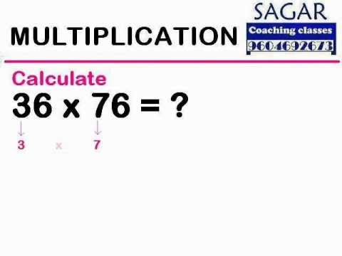 (Maths Tricks) Multiplication : 36 x 76 = ? - Sagar Coaching Classes
