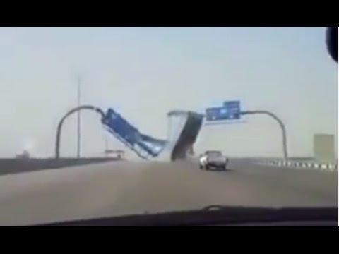 Невнимательный водитель фуры