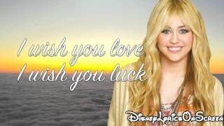 Hannah Montana I'll Always Remember You (Lyrics Video